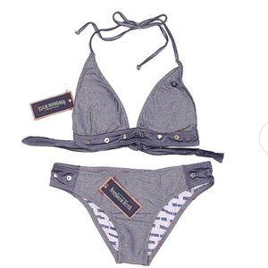 True Religion Metallic Bikini Set NWT